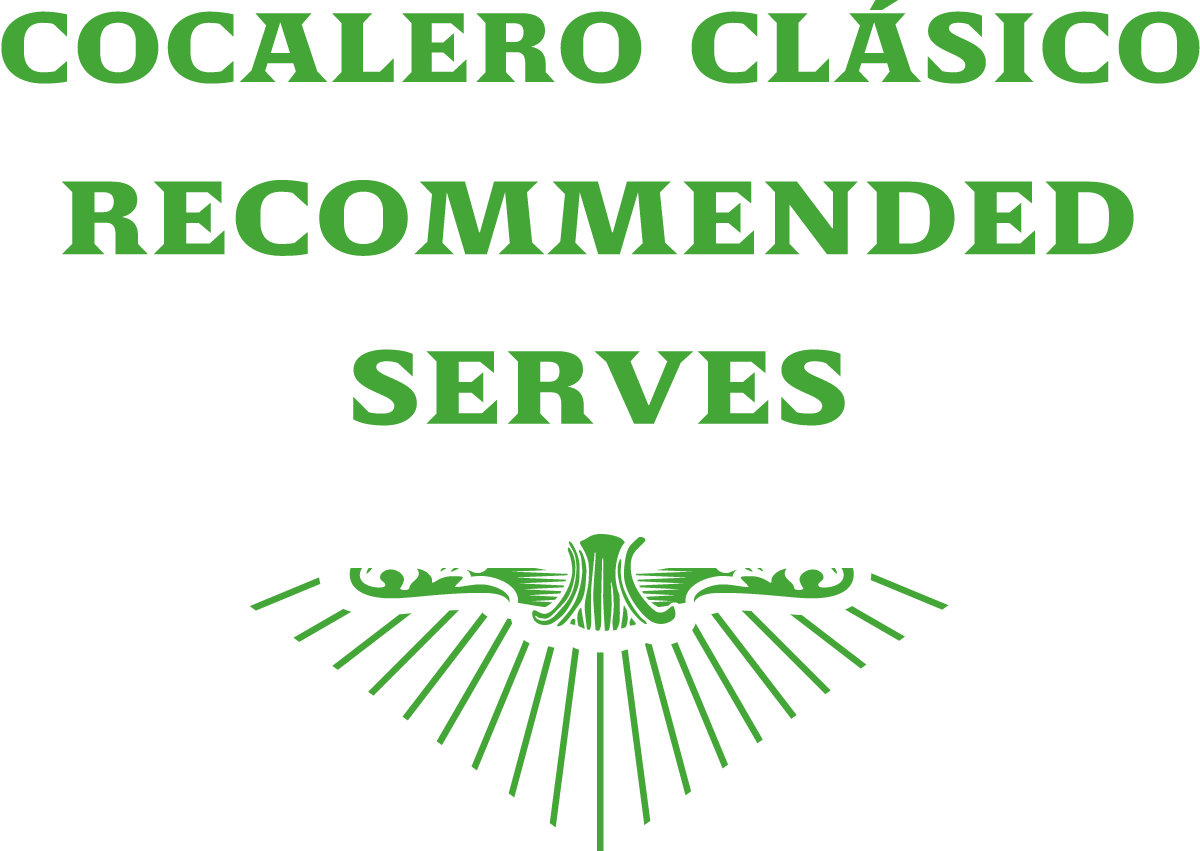 COCALERO CLASICO RECOMMENDED SERVES